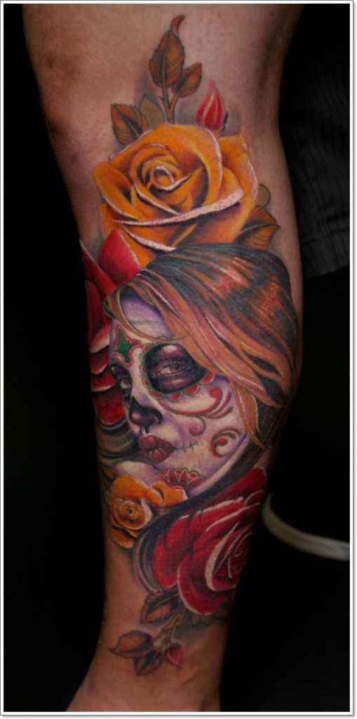 day of dead tattoo 3