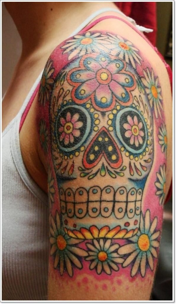 day of dead tattoo 8