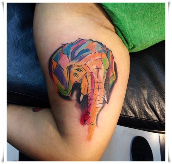 watercolor-elephant-tattoo