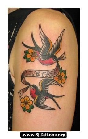Sailor Jerry Bluebird Tattoo Designs 09