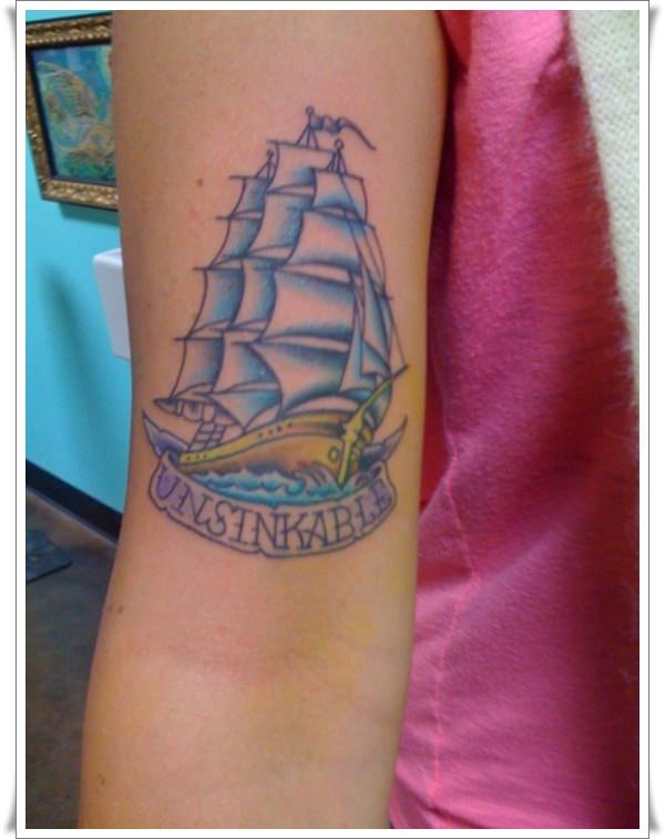 Tattoo-of-Unsinkable-Sailor-Jerry-ship