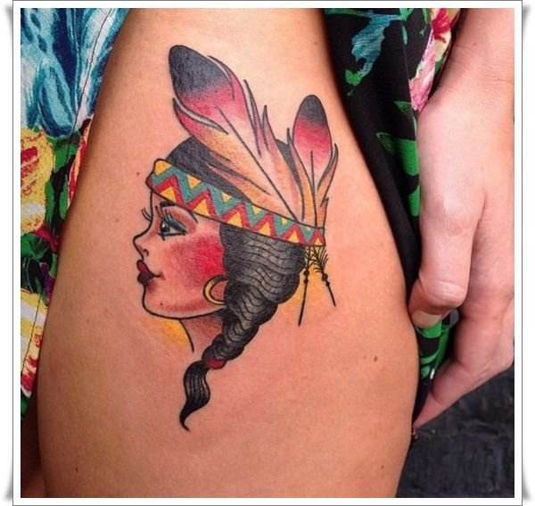 25 sailor jerry tattoos to rock your world for Girl head tattoo
