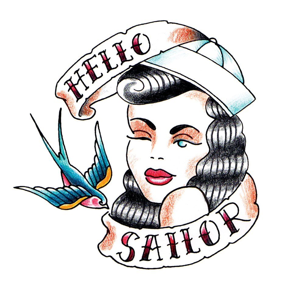 vintage tattoo jerry sailor
