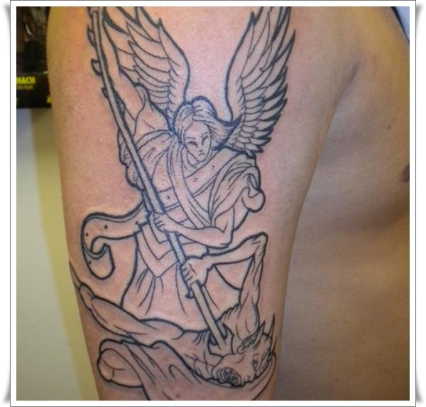 Saint Michael Tattoos 10