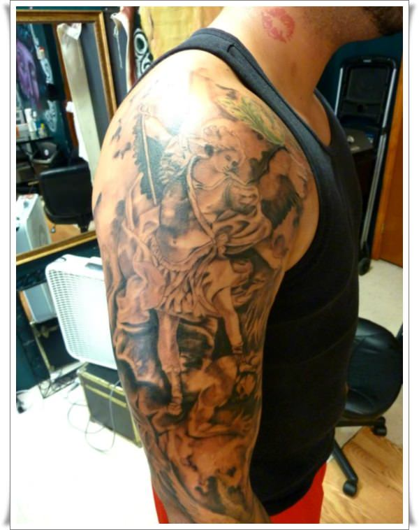 Saint Michael Tattoos 13