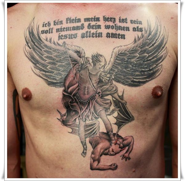 Saint Michael Tattoos 15