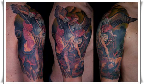 Saint Michael Tattoos 22