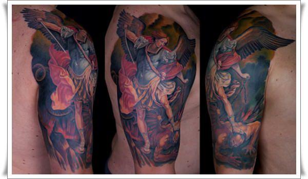 st michael tattoos 22