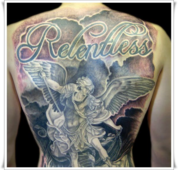 Saint Michael Tattoos 23