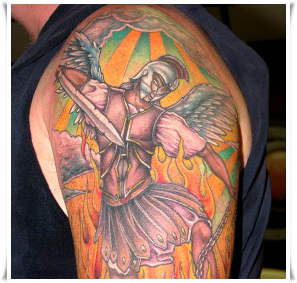 Saint Michael Tattoos 24