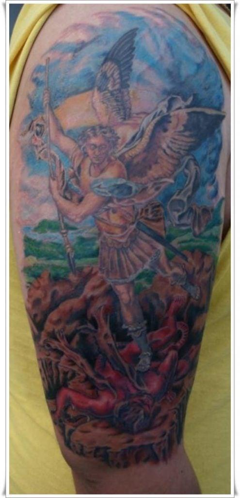 st michael tattoos 8