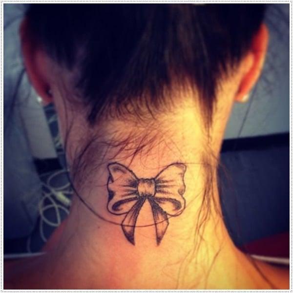 Bows small tattoo