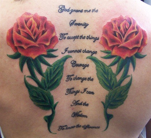 Serenity Prayer with Roses