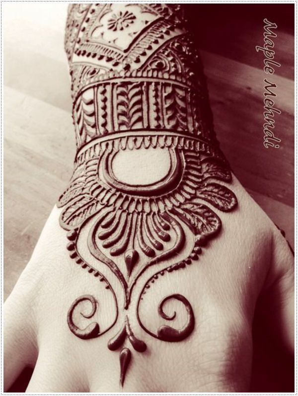 Henna Style Wrist Tattoo: 75+ Henna Tattoos That Will Get Your Creative Juices Flowing