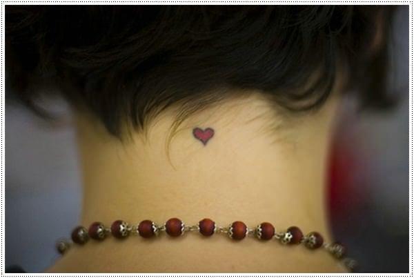 cute little heart tattoo girl