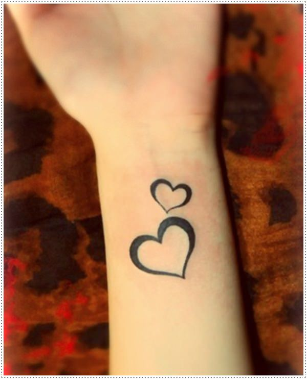 101 small tattoos for girls that will stay beautiful for Small heart tattoos on wrist