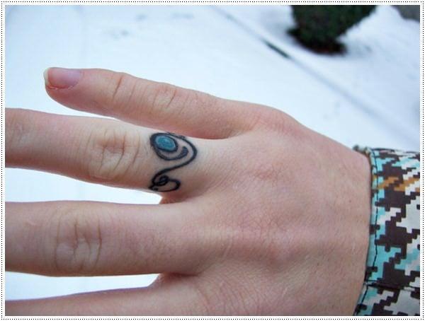 small ring tattoo