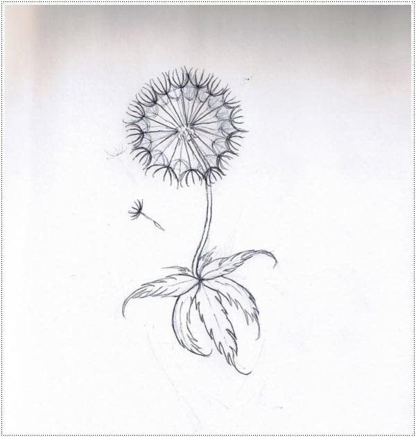 Dandelion Tattoo 9