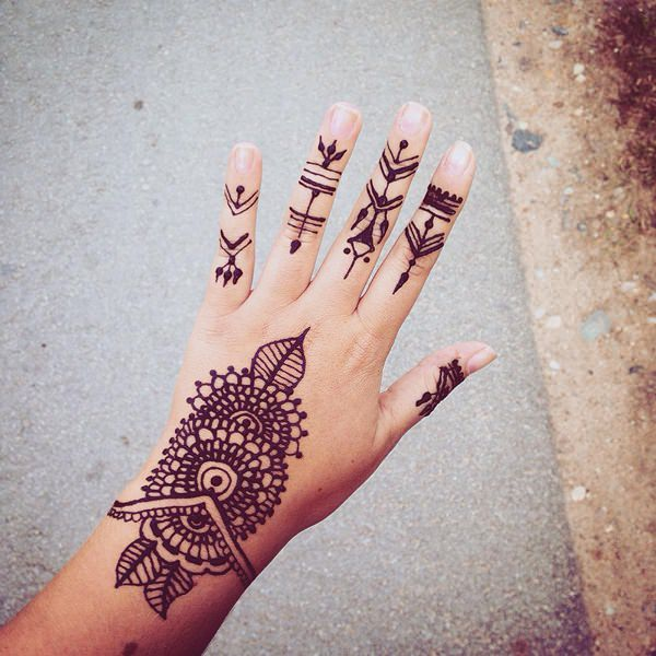 Simple Henna Tattoo Henna Tattoo: 75+ Henna Tattoos That Will Get Your Creative Juices Flowing