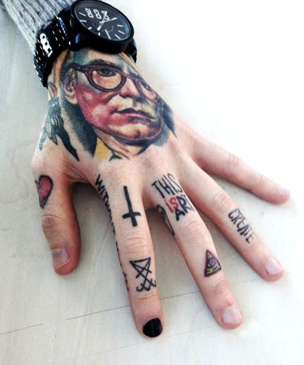 65 fun fierce and funky finger tattoos for Finger tattoo ideas