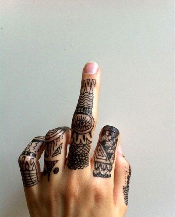 Finger Tattoos 19