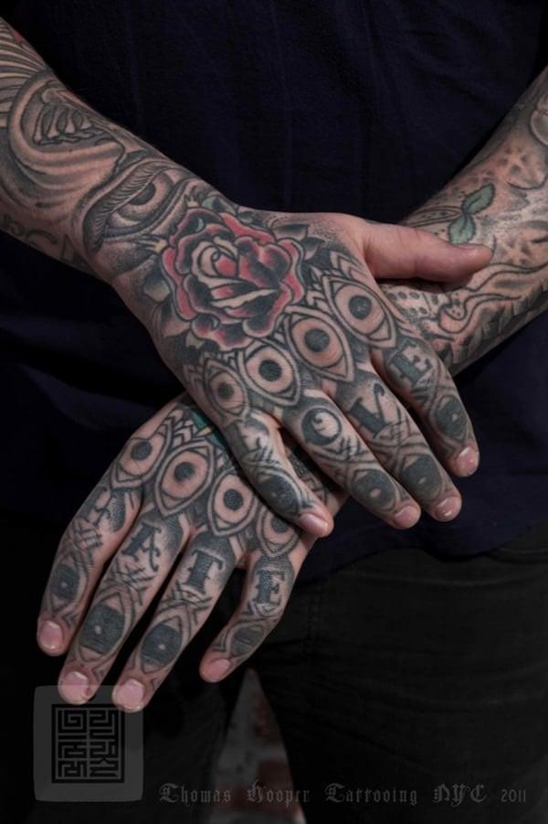65 fun fierce and funky finger tattoos. Black Bedroom Furniture Sets. Home Design Ideas