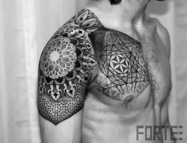 sacred geometry tattoo 17
