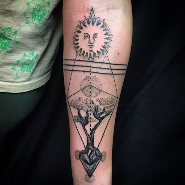 sacred geometry tattoo 44