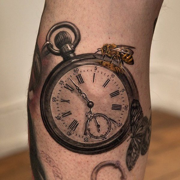 3d tattoos that will shock and amaze you for Pocket watches tattoos