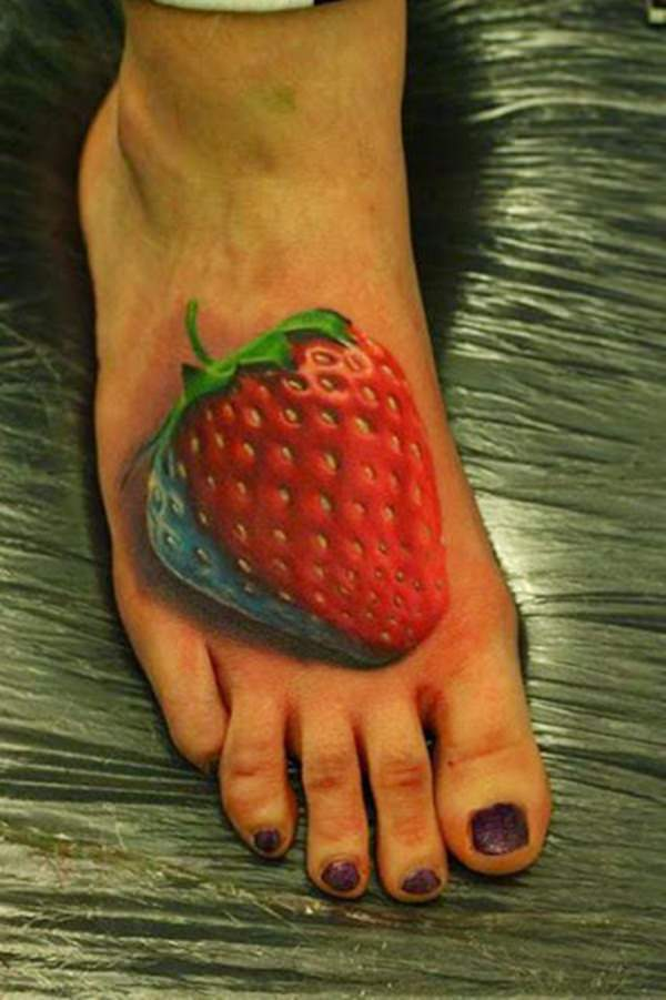 3d cherry tattoo