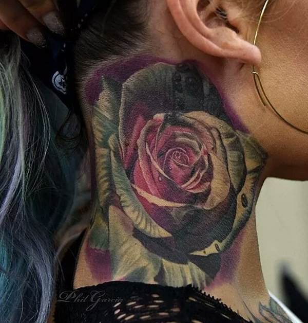 awesome neck tattoo