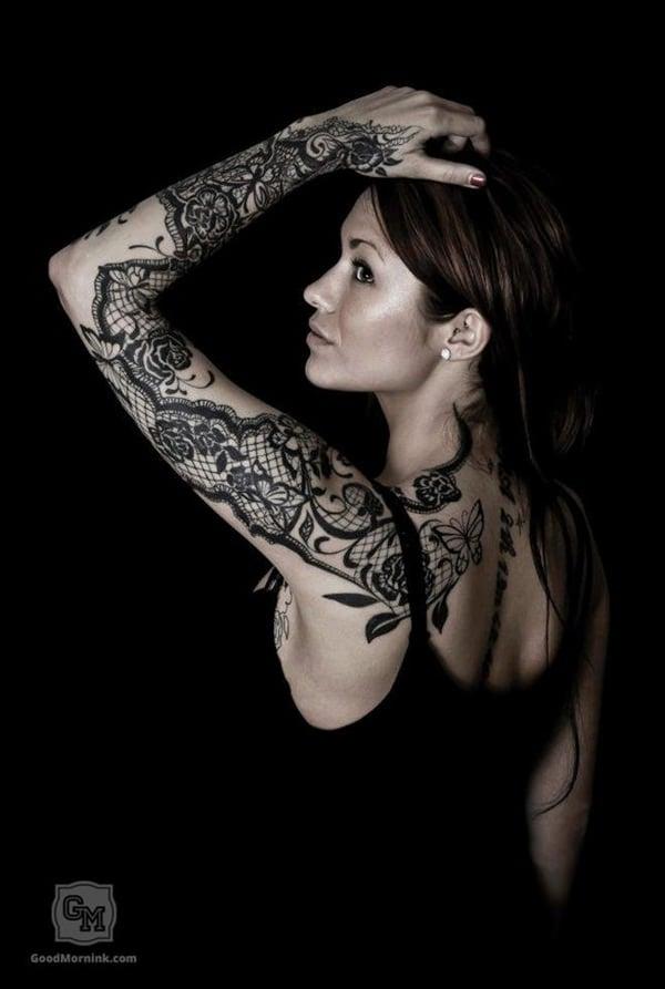 lace tattoos 11