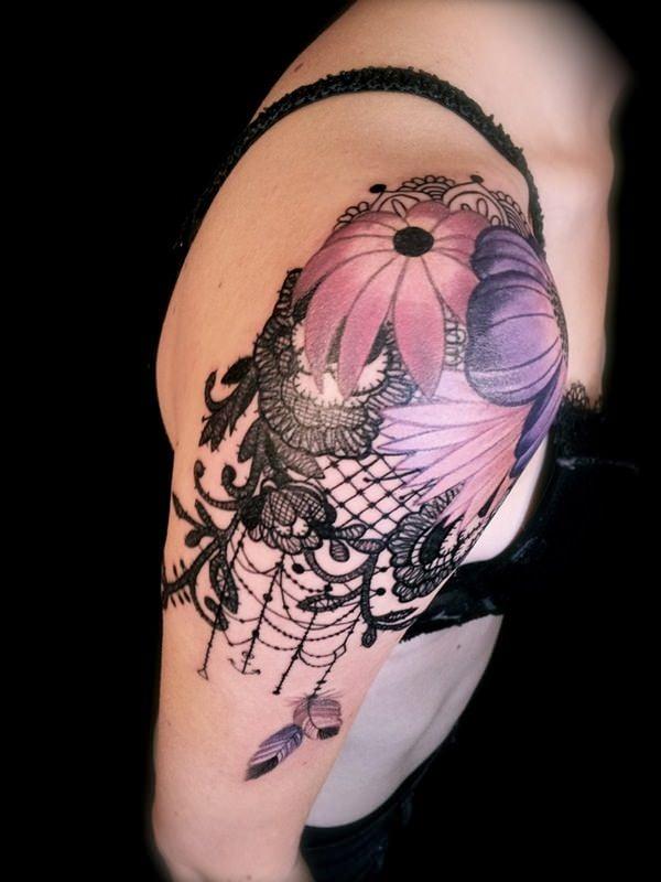 lace tattoos 5