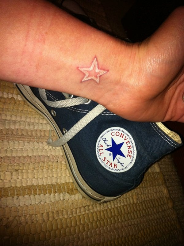 white star tattoos