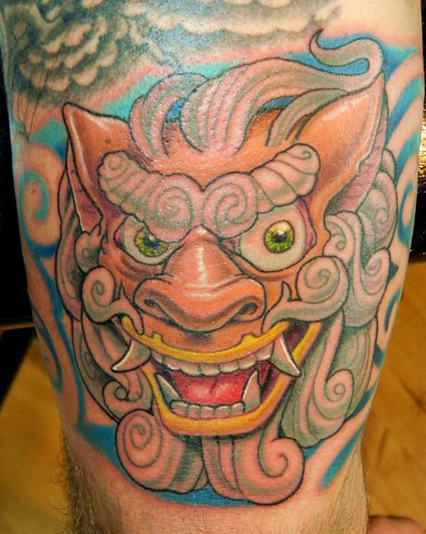 45 Menacing Foo Dog Tattoos To Protect You