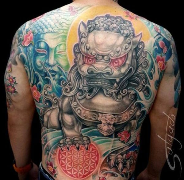 45 Menacing Foo Dog Tattoos To Protect You