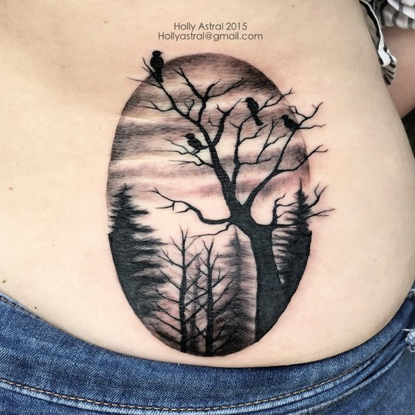 60 tree tattoos that can paint your roots for Death tree tattoo