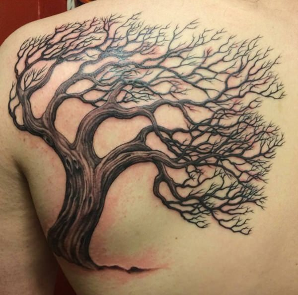 60 tree tattoos that can paint your roots. Black Bedroom Furniture Sets. Home Design Ideas