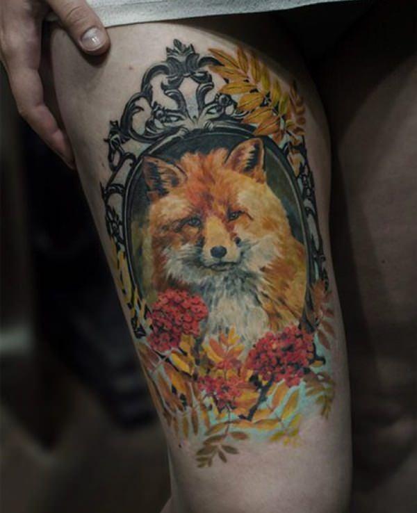 2-fox tattoos tattoos