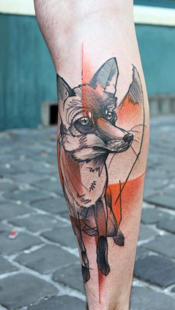 25 Fox Tattoos tattoos