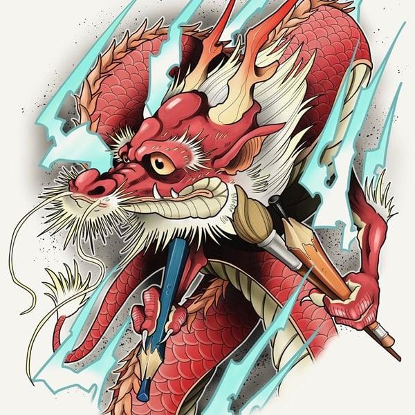 29-dragon tattoos