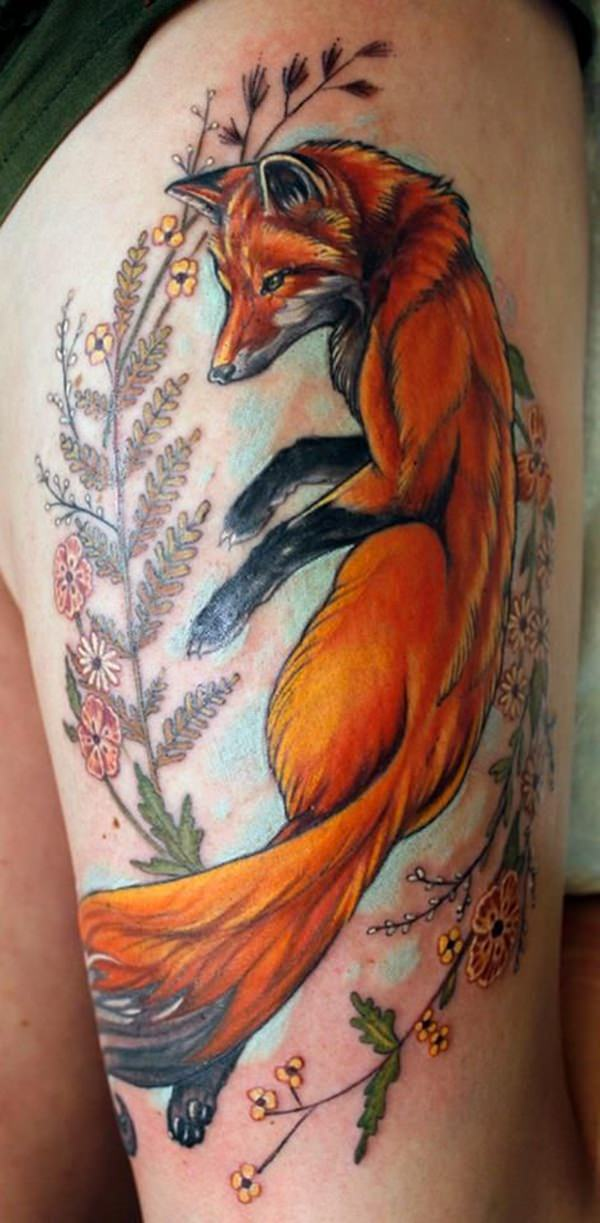 45 fox tattoos eye catching unique designs