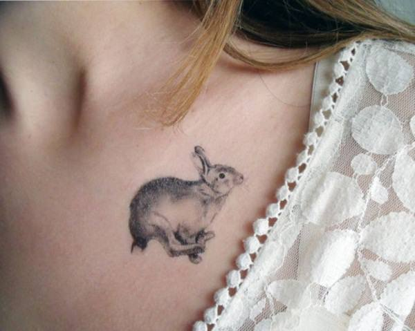 101 small tattoos for girls that will stay beautiful for Small bunny tattoo