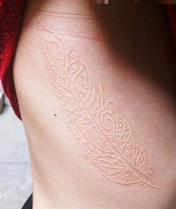 white ink tattoos-8