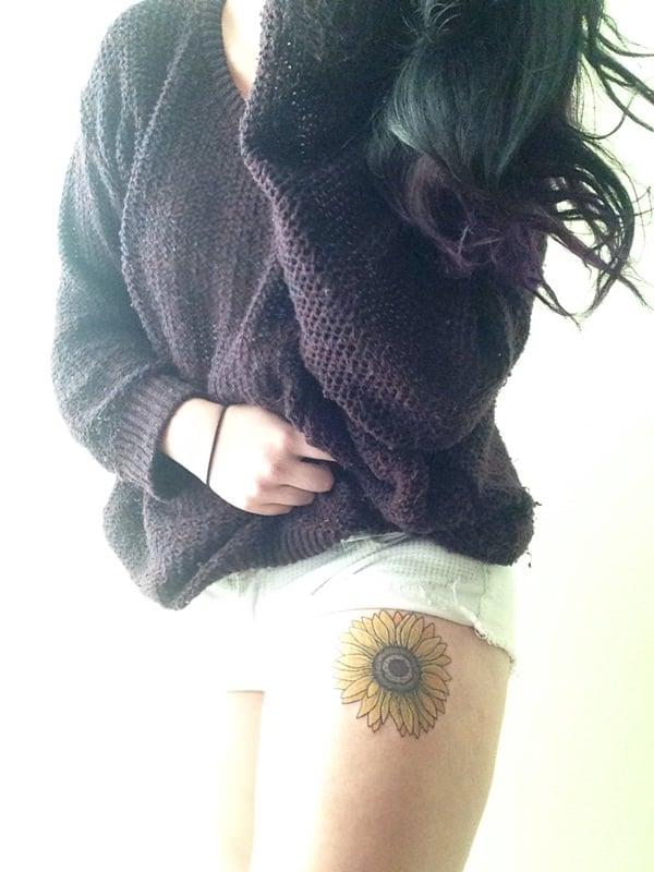 19sunflower-tattoo-designs