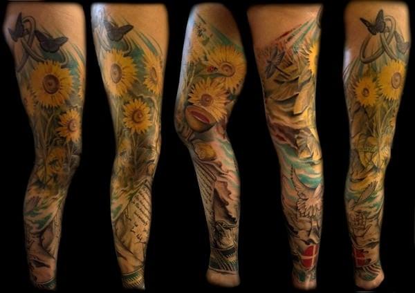 30sunflower-tattoo-designs