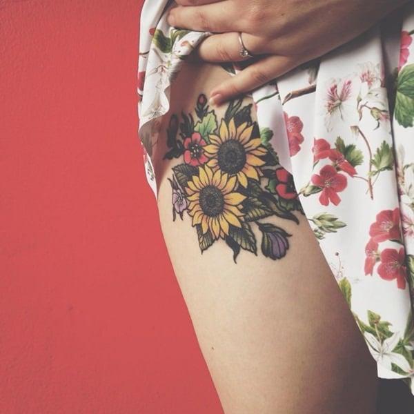 40sunflower-tattoo-designs