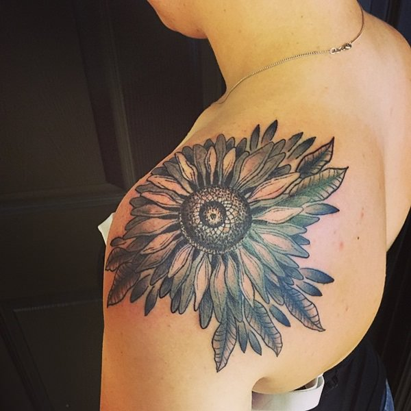 47sunflower-tattoo-designs