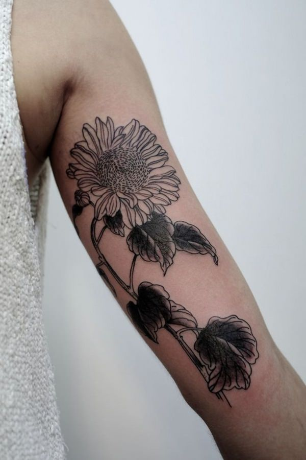 55sunflower-tattoo-designs