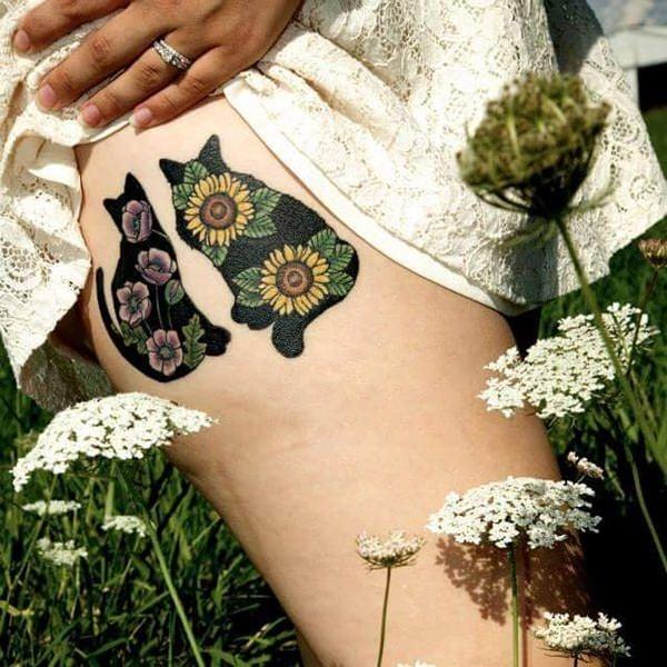 66sunflower-tattoo-designs